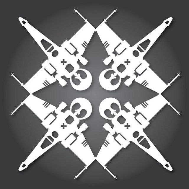 Well, Target Already Has Their Christmas Stuff Out: New Star Wars Paper Snowflake Designs | Geekologie