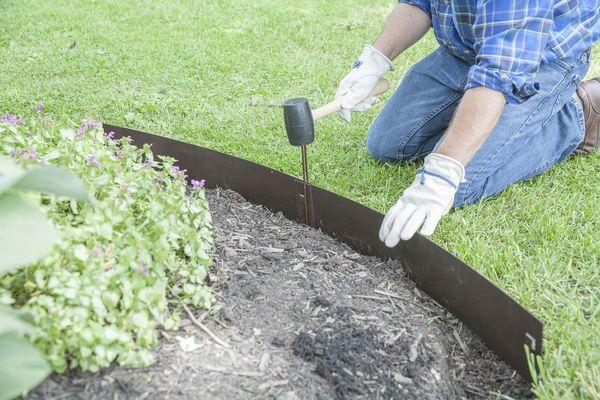 27 3m Bronze Straight Edge Lawn Edging Kit Lawn Edging Metal Lawn Edging Plastic Lawn Edging