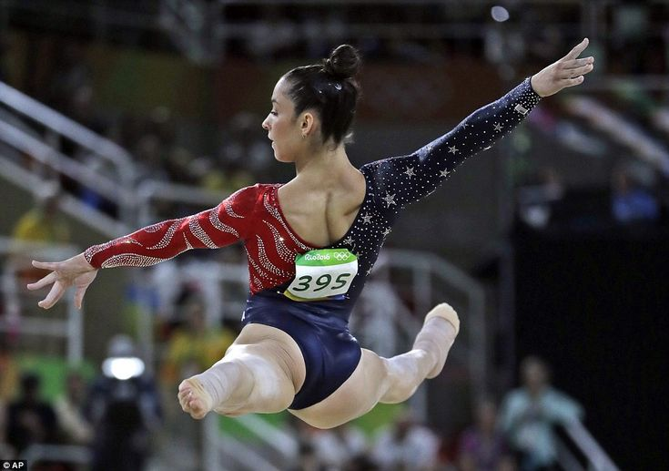 Alexandra Raisman, of the US, performs on the floor during the artistic gymnastics women's qualification at the 2016 Rio Olympics