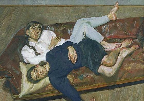 'Bella et Esther', huile sur toile de Lucian Freud (1922-2011, Germany)