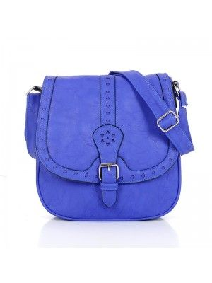JANINE #STYLIST LADIES #LEATHER #CROSSBODY #BAG BLUE #PrettyStyle
