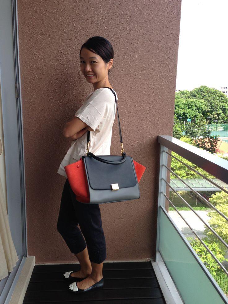 celine sac luggage tricolore medium