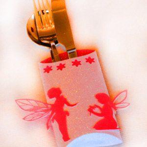 3D SVG Fairy Design Cutlery holder DIGITAL Download