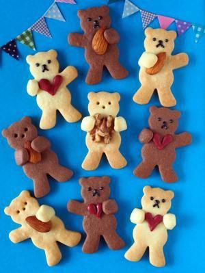 抱っこクマさんのクッキー」トイロ | お菓子・パンのレシピや作り方 ...