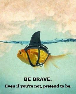 MEMEVAULT: Motivational Memes - Be brave. even if you are no... #motivationalmemes