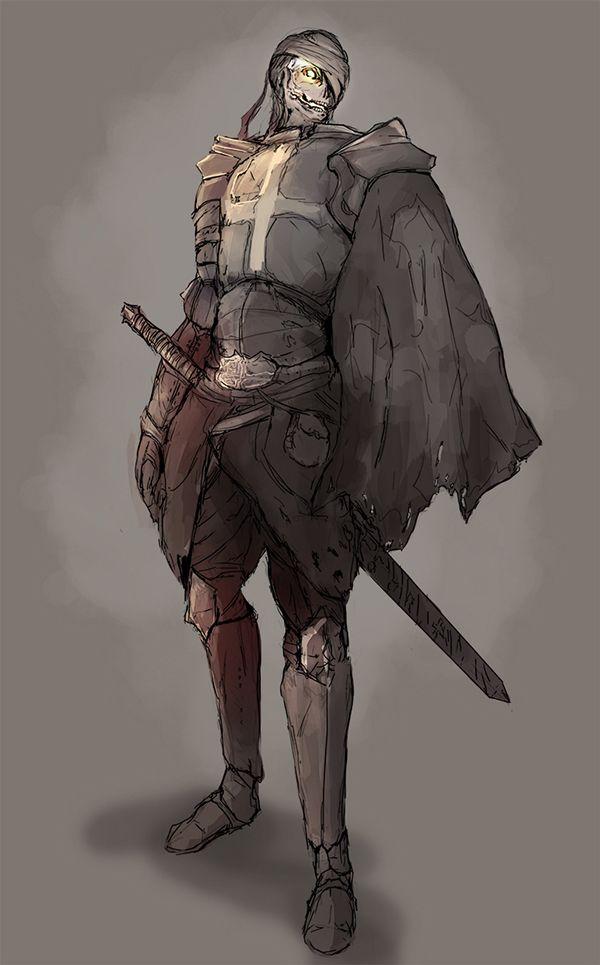 Character design ; Undead Knight  https://www.behance.net/nkrooster