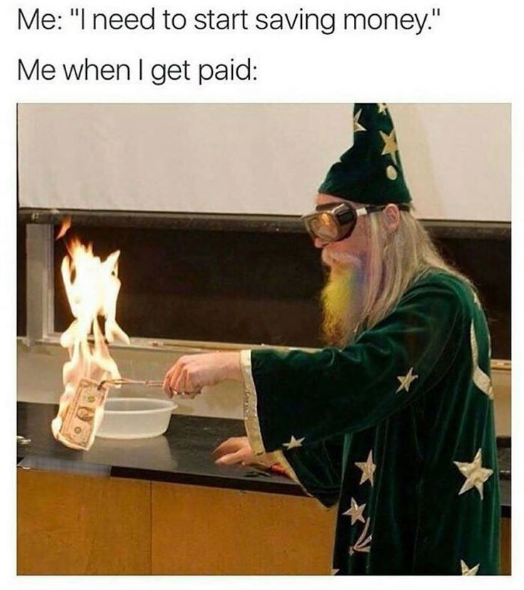 """I wanna know what went through this person's head. """"Hey, let's dress me up as a wizard and burn a dollar!"""""""