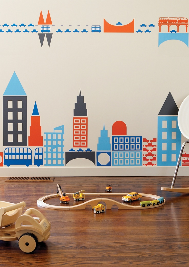 Boodalee City wall stickers: For Kids, Cities, Wall Decals, Wall Stickers, Boodalee City, Boy, Kids Rooms
