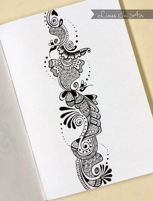 Henna Art By Linesinair Deviantart Com On Deviantart Zentangling