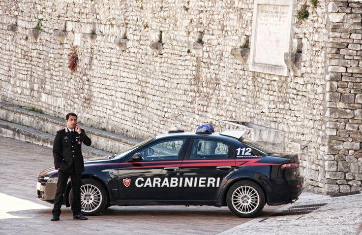 Shooting Don Matteo9 in Spoleto. Simone Montedoro as captain Guilio Tommasi.