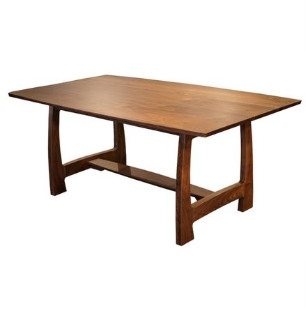 Amish Grand River Dining Table with Solid Top