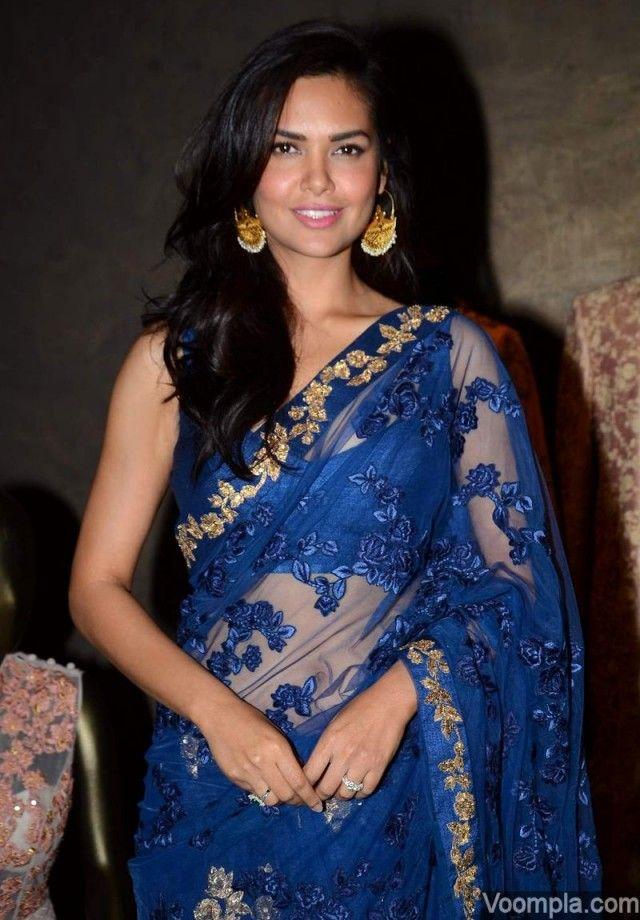Esha Gupta goes backless in a Shyamal and Bhumika sari