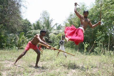 """Silambam: Silambamis a weapon-based Indian martial art from Tamil Nadu. Every states has it own style of martial arts. A wide variety of weapons are used in silamban, some of which are not found anywhere else in the world. Silambam art also used animal movements of snake, tiger, eagle forms and footwork patterns is play a key role here as well. Another part of Silambam is Kuttu varisai, it is the unarmed kind of martial art."""