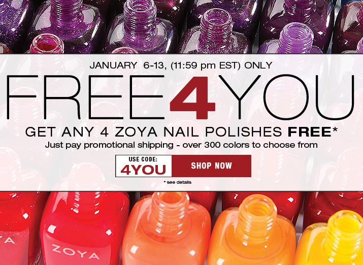 Zoya 4YOU promo january 2016