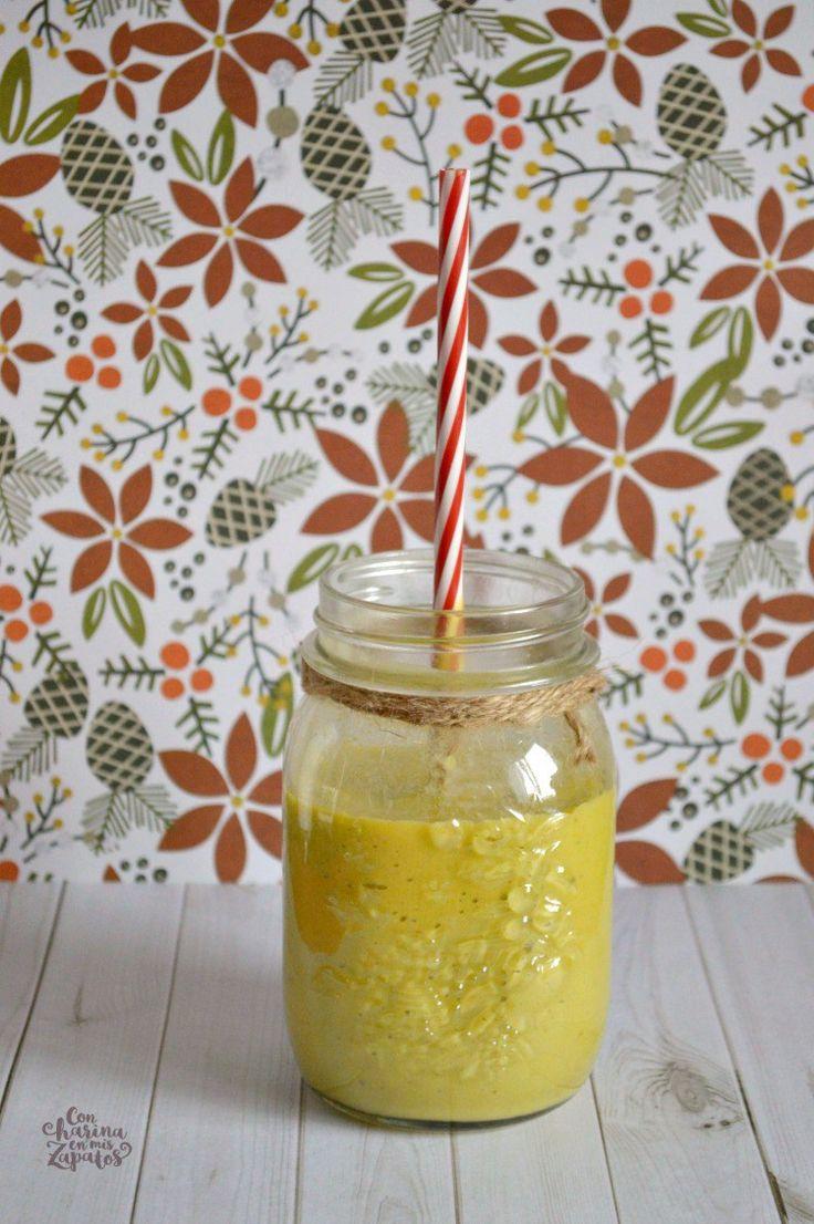 Smoothie de pera, aguacate y espincacas