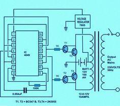 Circuit Diagram of Solar Inverter for Home | How Solar Inverter Works?