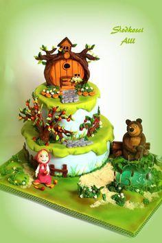 Cake Masha and the Bear - Hledat Googlem