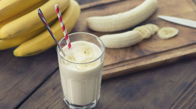 Smoothie banane-flocons d'avoine