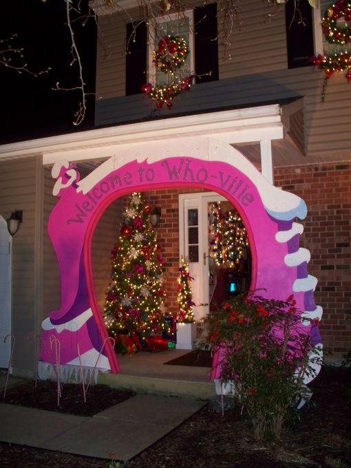 Whoville Grinch D R Seuss Christmas Decorating Porch Ideas Pinte