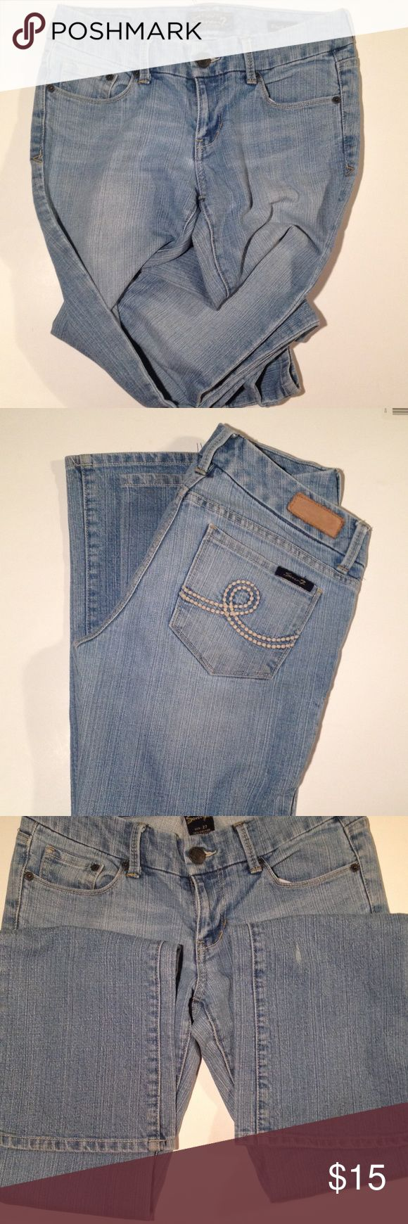 Seven 7 jeans Boot cut seven7 jeans. Distressed style. 34 inch inseam. Cotton, polyester, spandex. Priced for the BUY NOW button. Seven7 Jeans Boot Cut