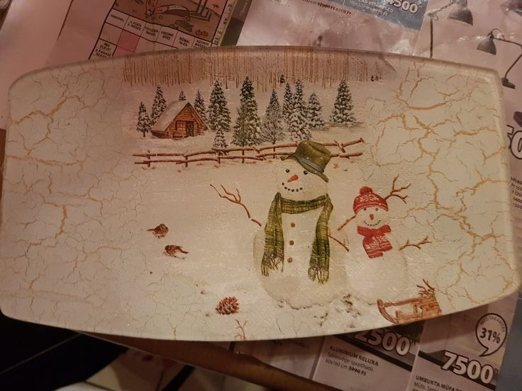 Christmas, Winter, decoupage
