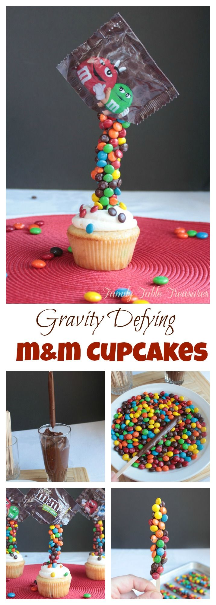 Gravity Defying M&M Cupcakes                                                                                                                                                                                 More