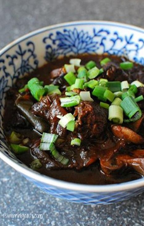 Slow Cooked Spicy Asian Beef...be sure to have some fluffy jasmine rice ready