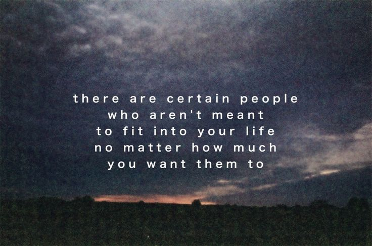 it's not meant to be