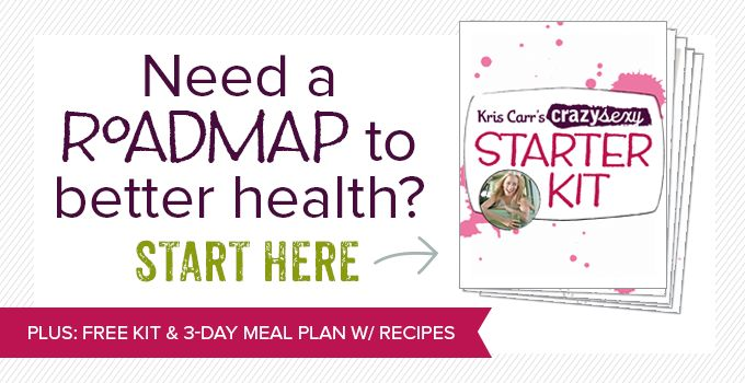 Kris Carr's Crazy Sexy Starter Kit: Your Healthy Living Guide!