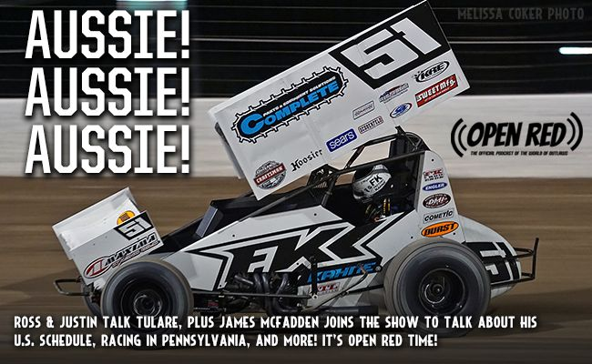 The PA Aussie James McFadden joins Open Red this week to talk about his Outlaw schedule, racing in Australia, and more. Plus the guys recap Tulare. It's Open Red, the Official Podcast of the World of Outlaws! ...
