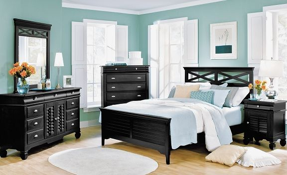 Plantation Cove Black Bedroom Collection Value City