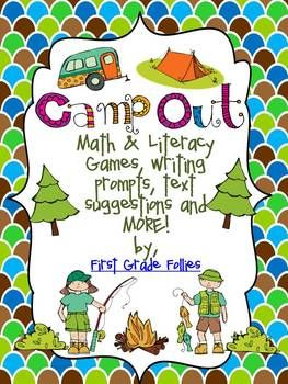 "Included in this file: Literacy Suggestions Theme ideas -Camping Vocabulary Cards  (can be printed multiple times for various activities) -Camping Syllable Sort -Alphabetical order sort -5 Camping themed writing prompts (blank, lined page included, too)  -Roll-the-Dice (+2 and +3 versions) -Addition & Subtraction ""I have, who has?"" sums to 20 (18 cards) -Base ten match (can be split into 2 games)  Check out my blog at: www.firstgradefollies.com"
