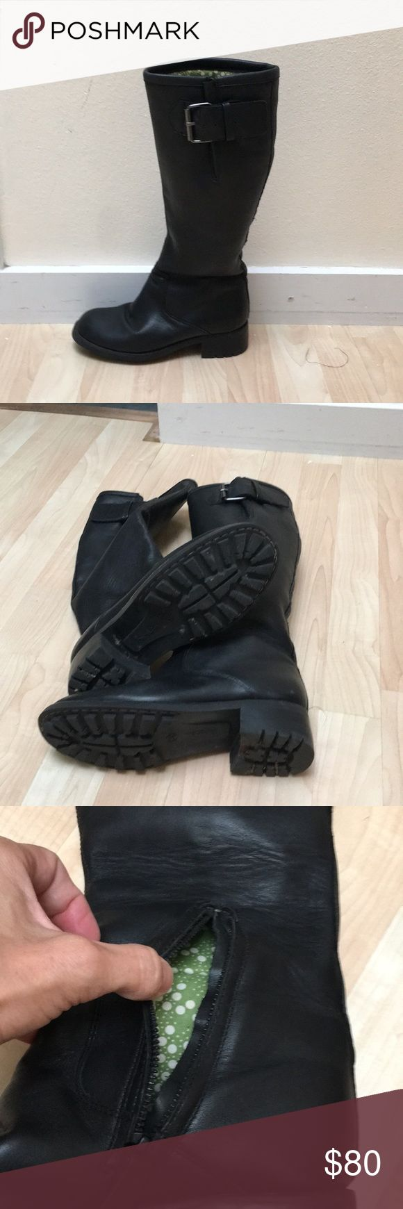 Women's Boden Black Boots Boden Black leather boots. Excellent condition.Size 38 or 8 Boden Shoes Heeled Boots