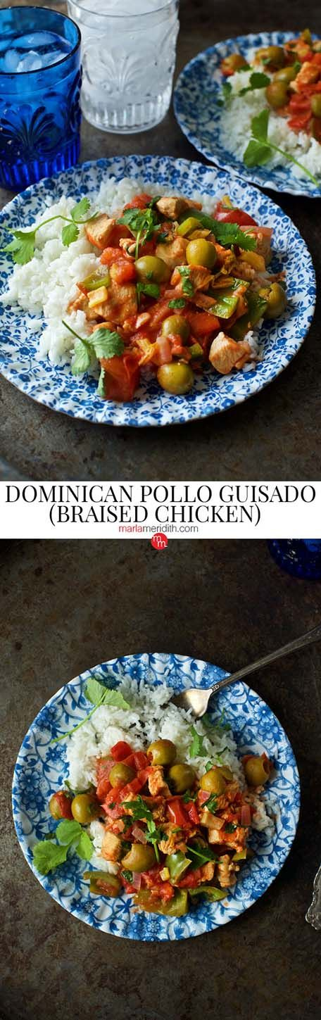 Dominican Pollo Guisado (Braised Chicken)