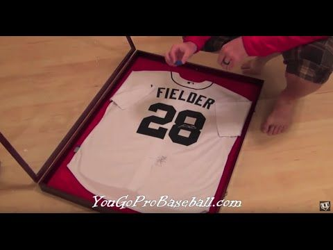 How to frame a baseball jersey for a lot less money - YouTube