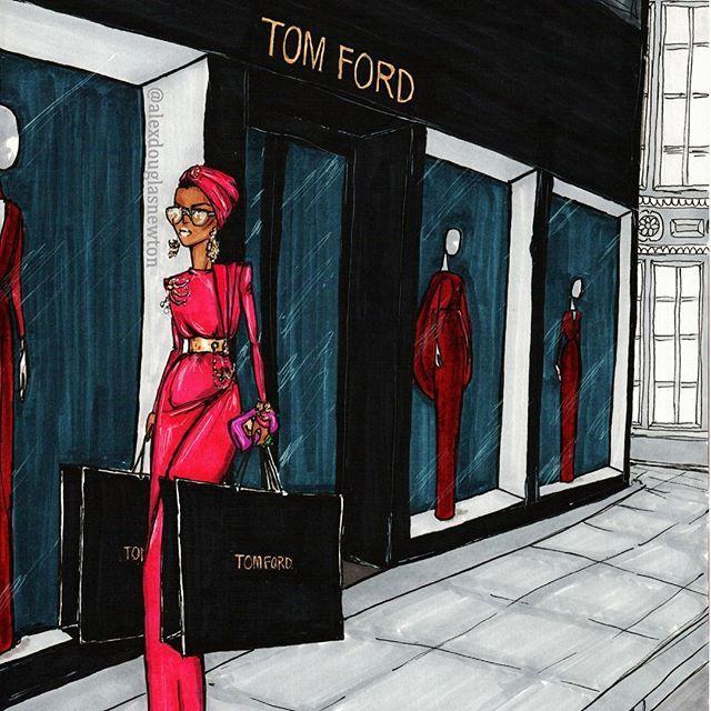 Tom Ford in New York #turban #womanshopping #tomford #newyork #NYC #NYCstyle #streetchic #streetstyle #nycstreetstyle #wealth #rich #fuchsia #SheikhaMozah #SheikhaMozahStyle #gold #jewels #headscarf #turban #fuchsiaturban #headwrap #madisonavenue