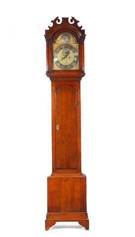 A George III oak-cased eight-day longcase clock Peter Amyot, Norwich (1733 - 1799) Peter Amyot (1733 - 1799) was of French Huguenot descent. The first immigrant from his family, Thomas, came to England at the Revocation of the Edict of Nantes in 1685 and settled in the parish of St Peter Mancroft in Norwich. Peter was a distinguished clock and watch maker, working first at White Lion Lane then at 19 Haymarket, and, newly in partnership with his apprentice James Bennett (1760 - 1845), at No.2…