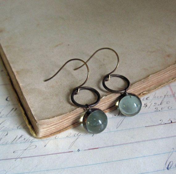 Glas marmeren oorbellen gerecycleerd glas sieraden