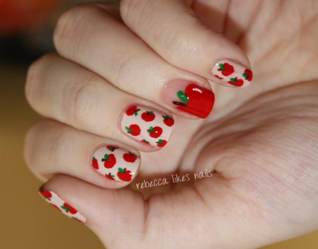 rebecca likes nails: 31dc2012 - day 1Nails Art, Tutorials Include, Beautiful Nails, Nails Design, Nail Art Designs, Pictures Tutorials, Da Nails, Apples Nails, Diy Nails