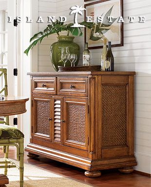 Tommy Bahama Furniture | Tommy Bahama Home Island Estate Antigua Server