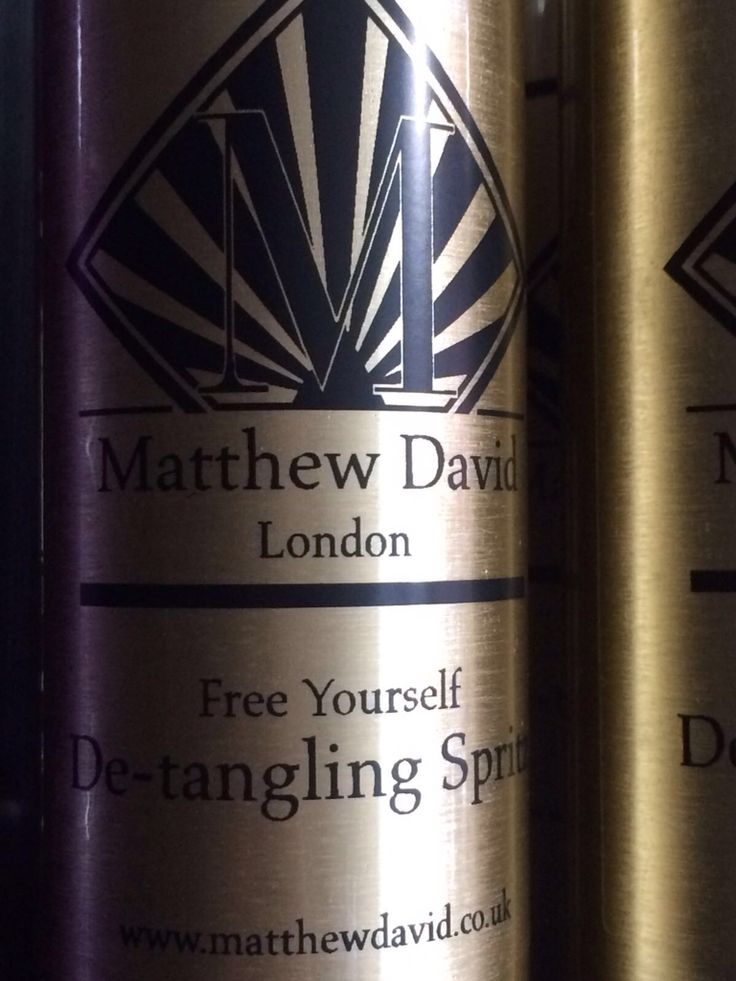 Detangling spray. Luxury hair care by Matthew David Bespoke Hairdressers, London