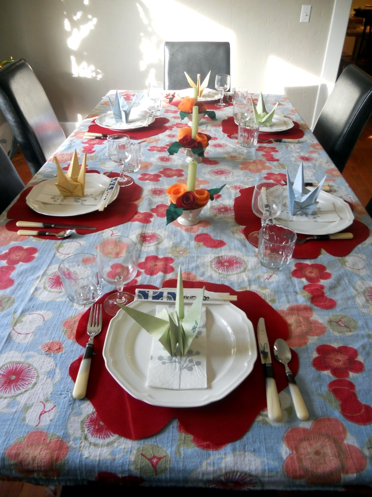 Chinese Dinner Party Ideas Part - 35: Table I Set For A Chinese Dinner Party
