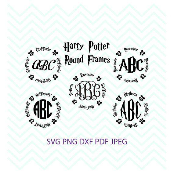 Harry Potter Svg Circle Monogram Svg Gryffindor