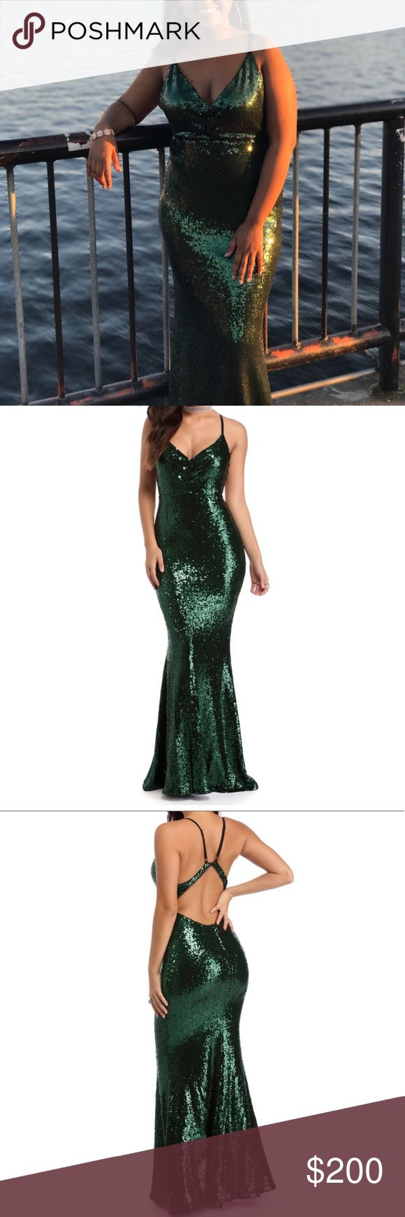 Sparkly Prom Dress It's a long green, sparkly dress that's gorgeous!! I wore it for my prom and I got a ton of compliments! Dresses Prom