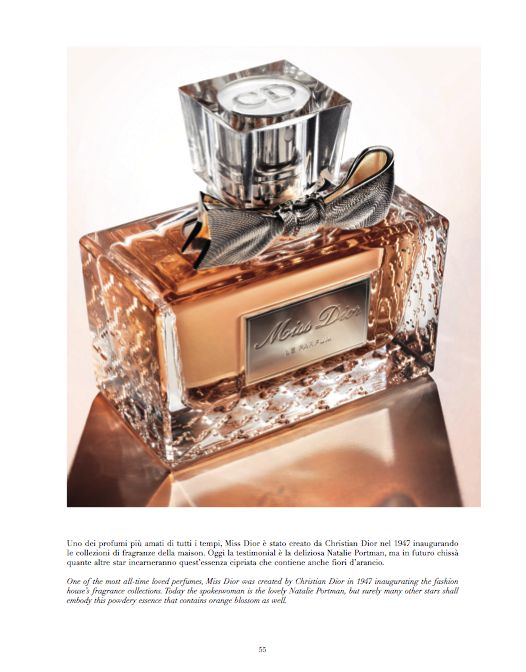 From our Book Beauty - A PERFUME IS FOREVER One of the most all-time loved perfumes, Miss Dior was created by Christian Dior in 1947 inaugurating the fashion house's collections. Today the spokewoman is the lovely Natalie Potman, but surely many other stars shall embody this powdery essence that contains orange blossom as well. #perfume #missdior @Dior #christiandior #fragrance #natalieportman #essence #blossom #woman #style #fashion