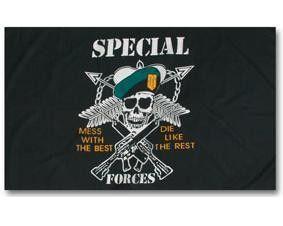 Mil-Tec Fahne US Special Forces, 90x150cm / mehr Infos auf: www.Guntia-Militaria-Shop.de