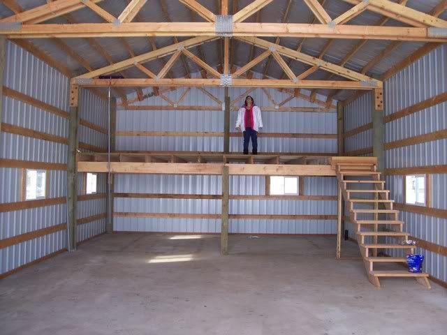 25 best pole barn garage ideas on pinterest for Pole building with loft