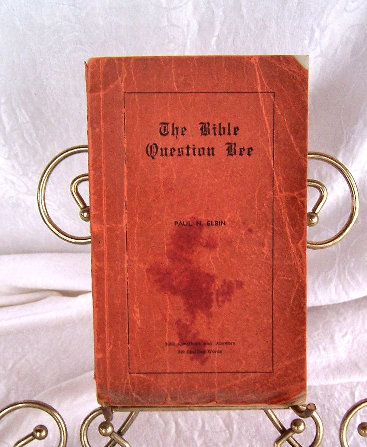 The Bible Question Bee, Paul N. Elbin Bible, Question and Answers, Religious Books, Books on Faith, Worship Book,  Christianity Book by SierrasTreasure on Etsy