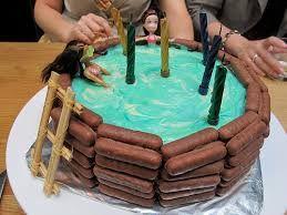 Image result for τούρτα με θέμα πισίνα