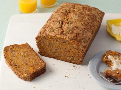 What's baking? Alton Brown's Pumpkin Bread (loaded with fresh pumpkin, cinnamon and pumpkin seeds!)